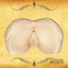 Silicone Jeans Ass & Vagina Masturbator BAV-020