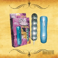 Silver Beaded Anal Vibrator-BIG AD-011