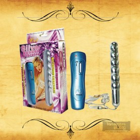 Silver Beaded Anal Vibrator AD-012
