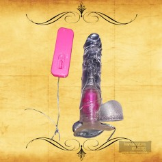 Crystal Lover Jelly Realistic Vibrator with Suction Cup RSV-065