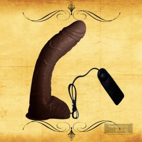 "Big Bent 10"" Realistic Vibrator Suction Cup Chocolate Dong Vibrator RSV-075"